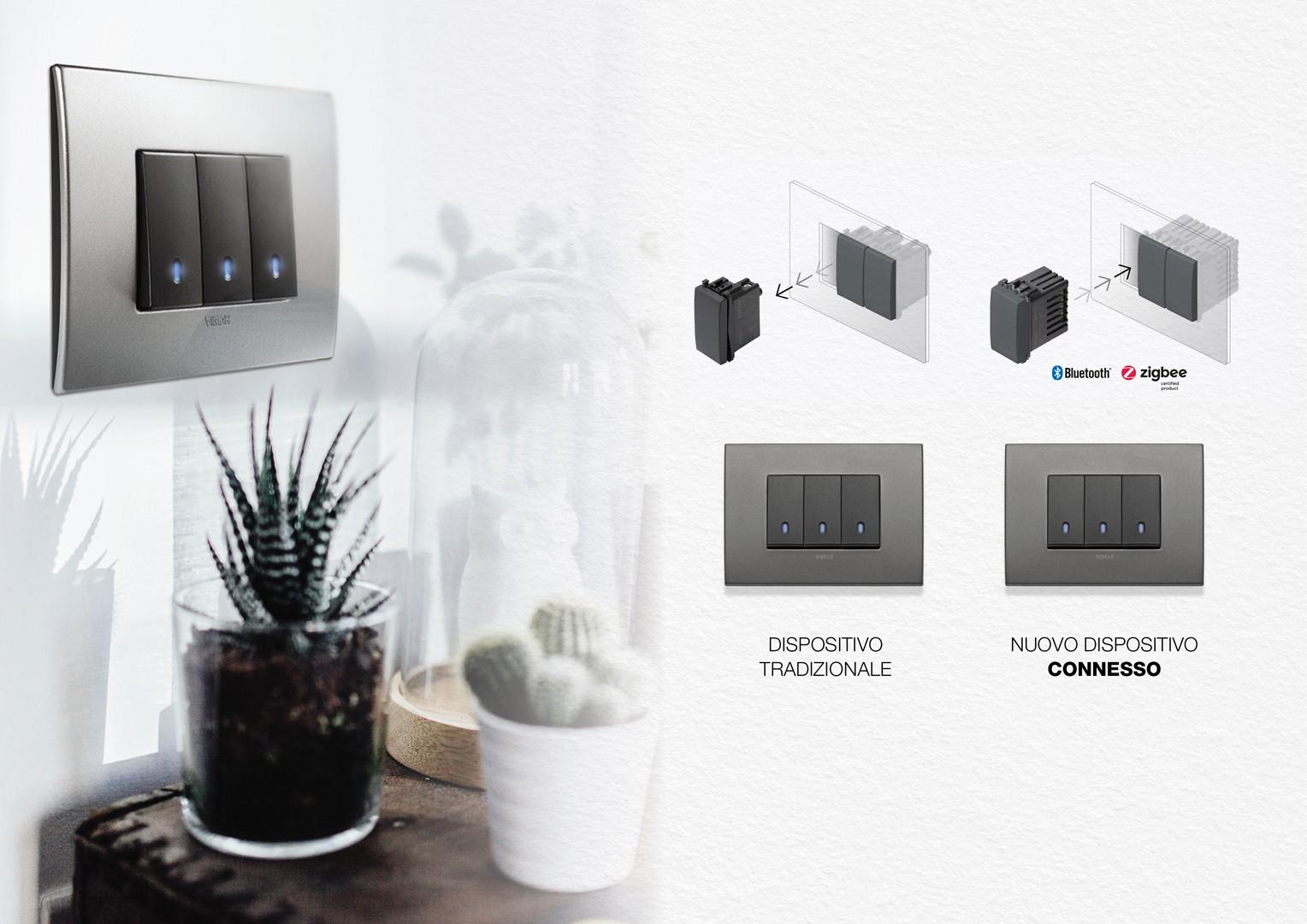 Vimar interruttori smart, intelligenti e connessi: da Veglio, la domotica al servizio dell'illuminazione a Torino