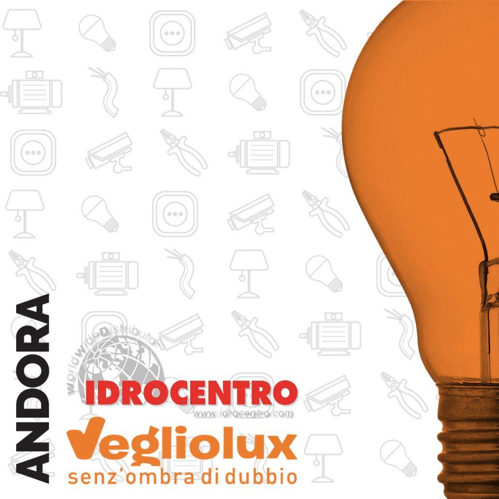 Andora: un punto vendita di Vegliolux per Illuminazione e elettroforniture, un marchio del gruppo Idrocentro
