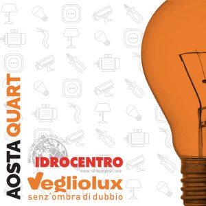 Aosta Quart: un punto vendita di Vegliolux per Illuminazione e elettroforniture, un marchio del gruppo Idrocentro