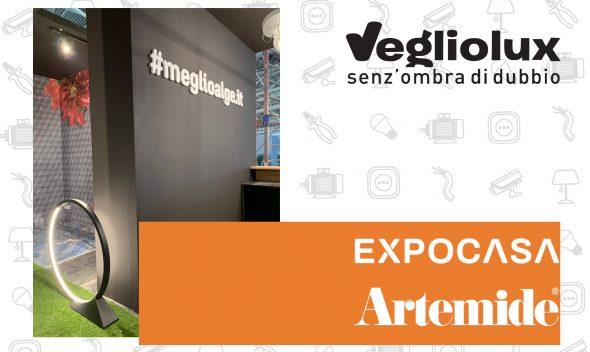 Il marchio di illuminazione Artemide in mostra a Expocasa a Torino: ce l'ha portata Vegliolux