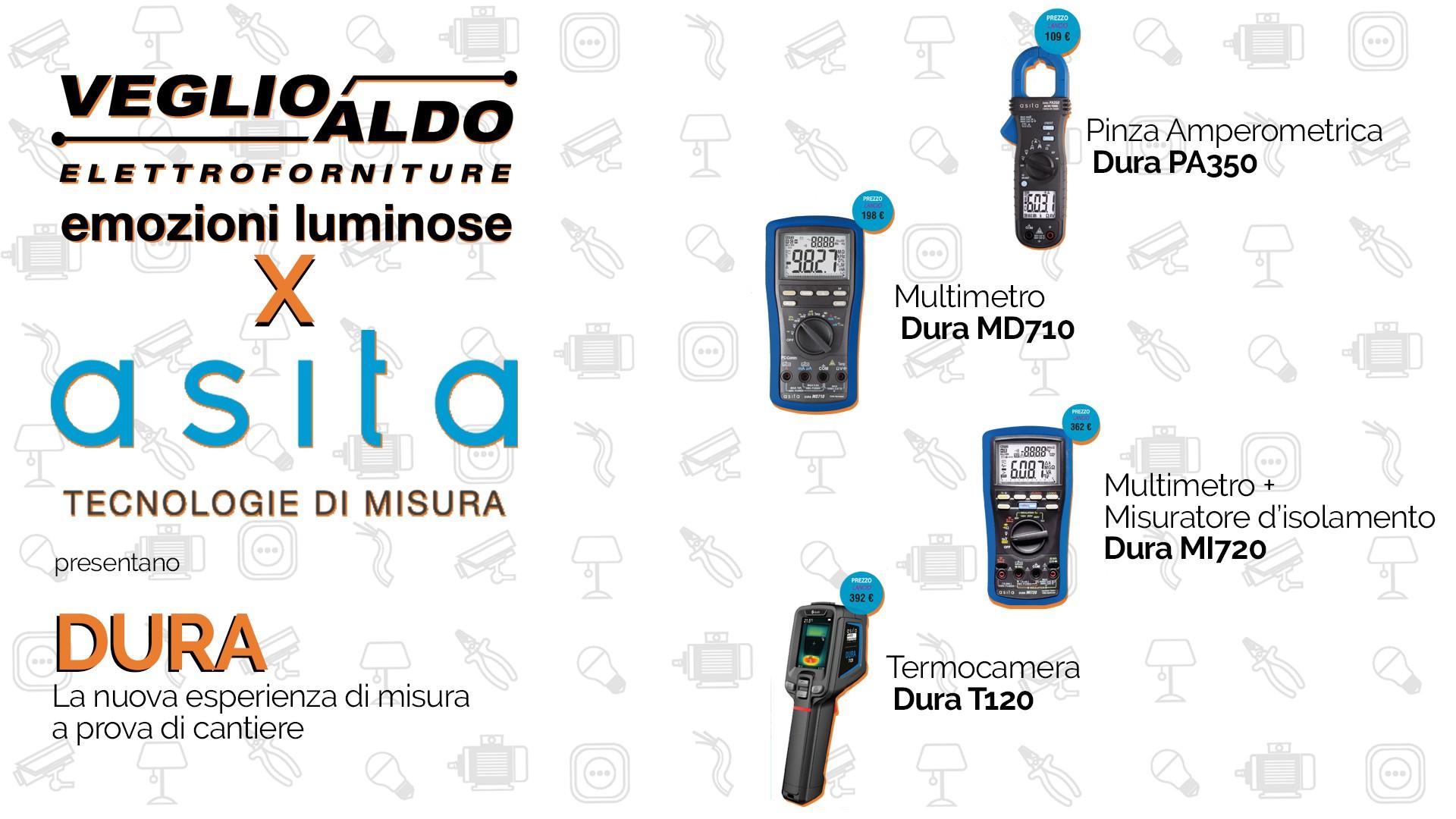 Asita: Pinza Amperometrica Dura PA350, Multimetro Dura MD710, Multimetro + Misuratore d'isolamento Dura MI720 e Termocamera Dura T120 2