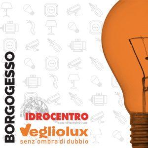 Cuneo Borgogesso: un punto vendita di Vegliolux per Illuminazione e elettroforniture, un marchio del gruppo Idrocentro