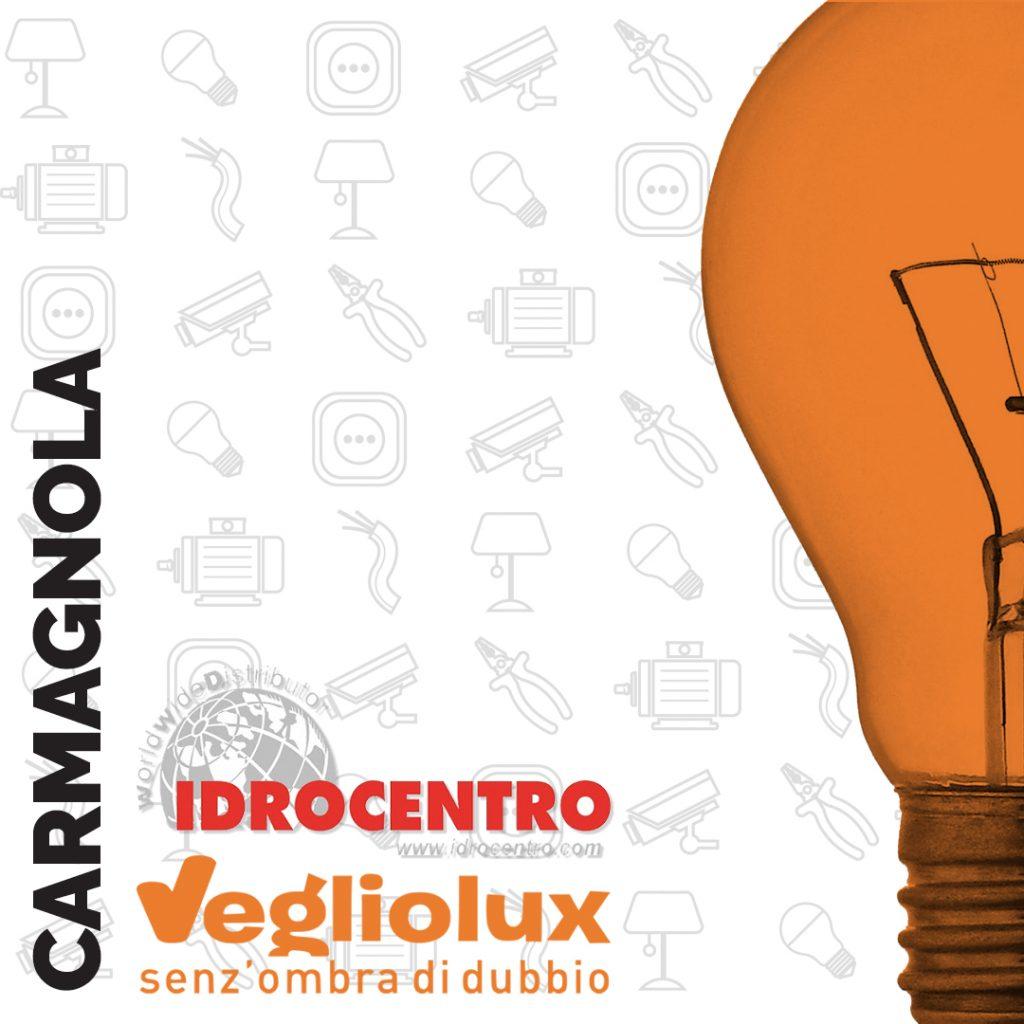 Carmagnola: un punto vendita di Vegliolux per Illuminazione e elettroforniture, un marchio del gruppo Idrocentro