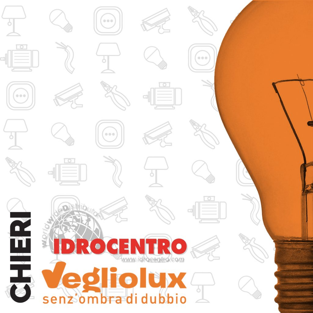 Chieri: un punto vendita di Vegliolux per Illuminazione e elettroforniture, un marchio del gruppo Idrocentro