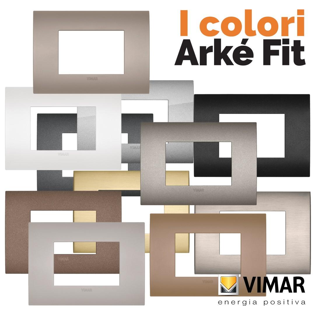 Vimar Arké Fit: i colori da Vegliolux e Idrocentro