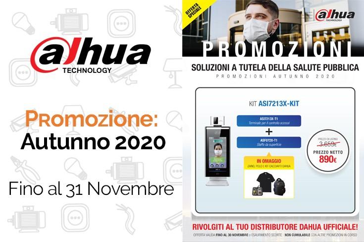 Scopri la promozione per i professionisti Dahua, valida fino al 30 Novembre su termoscanner e controllo accessi
