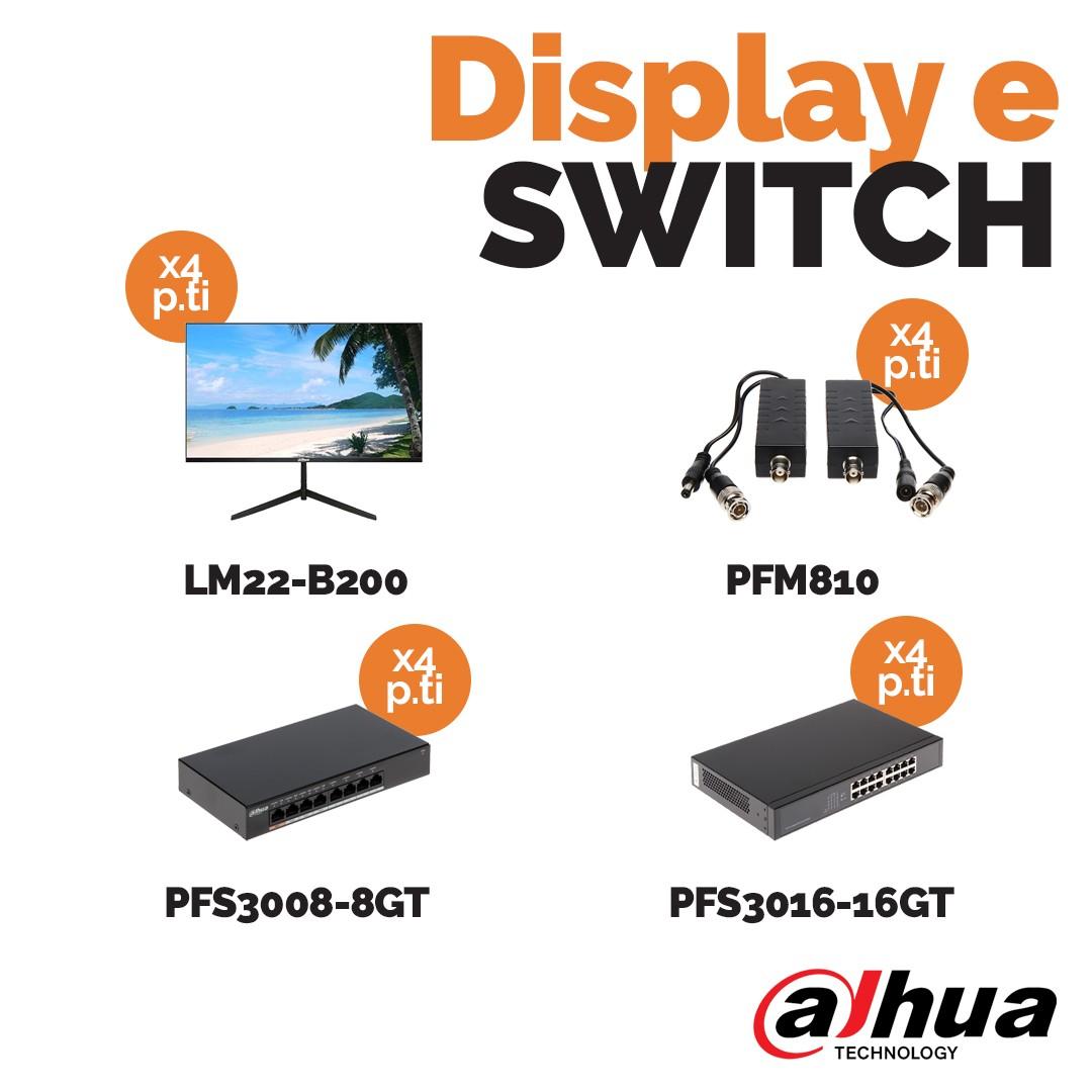 Display e Switch Dahua da Vegliolux e Idrocentro