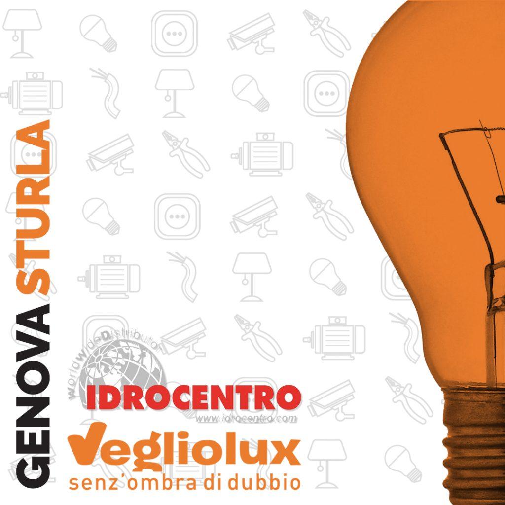 Genova Sturla: un punto vendita di Vegliolux per Illuminazione e elettroforniture, un marchio del gruppo Idrocentro