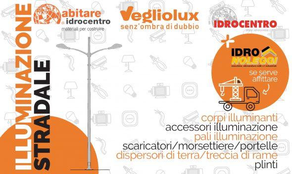 Da Vegliolux, un marchio del gruppo Idrocentro puoi trovare tutto il necessario pe l'illuminazione stradale in Piemonte e in Liguria. Tutto in pronto magazzino
