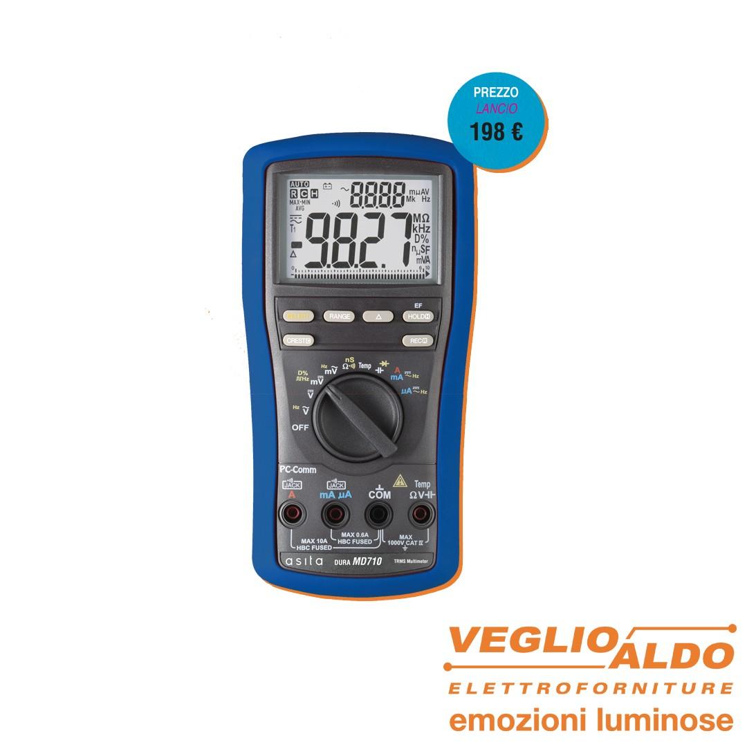 Asita: Multimetro MD710 da Veglio Aldo, elettroforniture e attrezzature per elettricisti