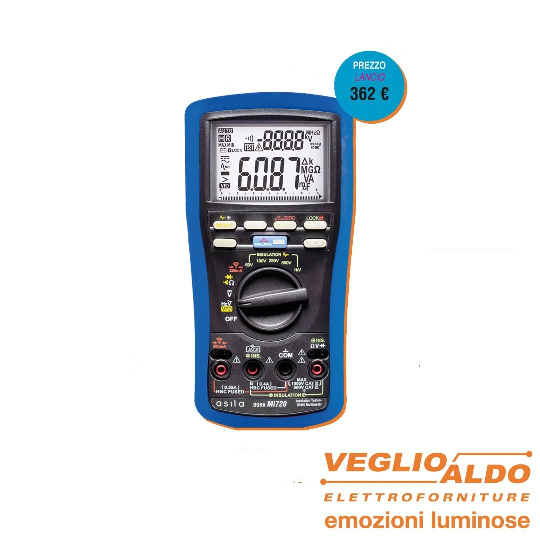 Asita: Multimetro + misuratore d'isolamento MI720 da Veglio Aldo, elettroforniture e attrezzature per elettricisti