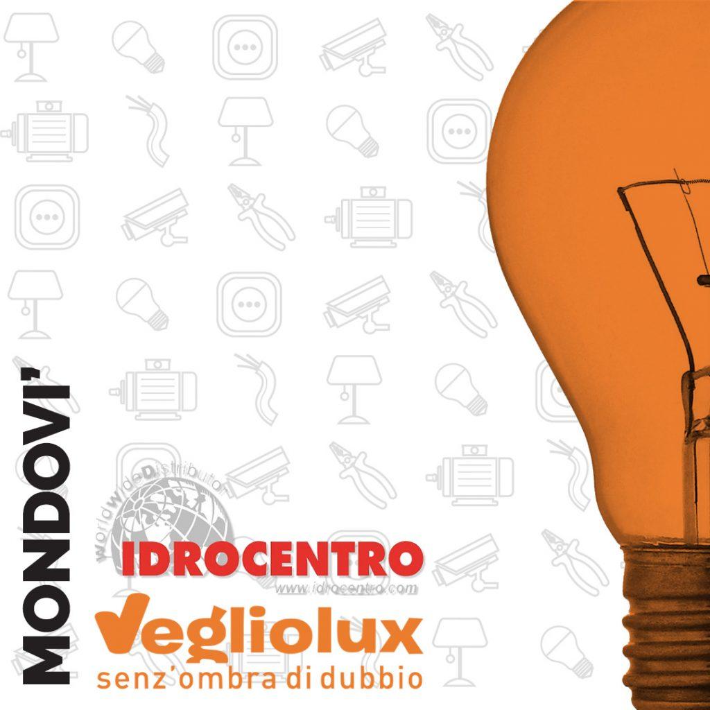 Mondovì: un punto vendita di Vegliolux per Illuminazione e elettroforniture, un marchio del gruppo Idrocentro