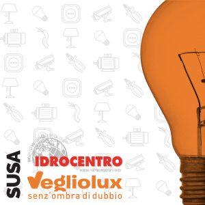 Susa: un punto vendita di Vegliolux per Illuminazione e elettroforniture, un marchio del gruppo Idrocentro