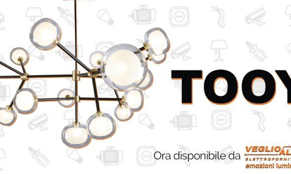 Tooy: i nuovi lampadari da Veglio Aldo, professionisti dell'Illuminazione Torino