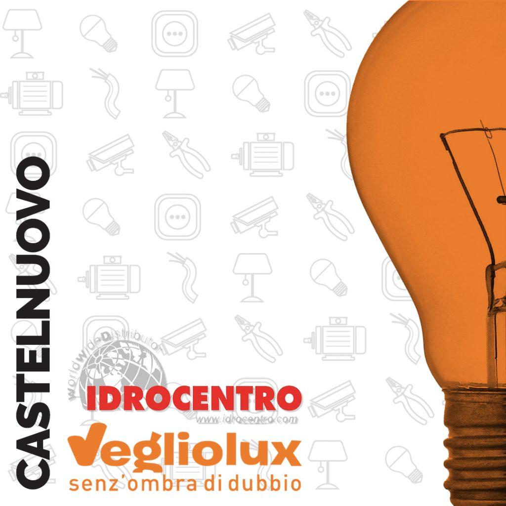 Castelnuovo: un punto vendita di Vegliolux per Illuminazione e elettroforniture, un marchio del gruppo Idrocentro