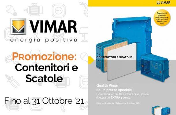 Vimar: la promozione su contenitori e scatole. Da Vegliolux e Idrocentro
